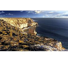 Kalbarri Coastal Cliffs At Sunset Photographic Print