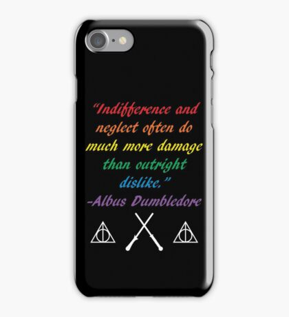 Indifference Quote iPhone Case/Skin