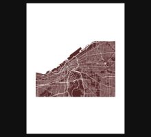 Cleveland Map One Piece - Long Sleeve