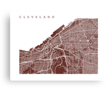 Cleveland Map Metal Print
