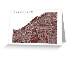 Cleveland Map Greeting Card