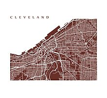 Cleveland Map Photographic Print