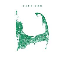Cape Cod Map Photographic Print