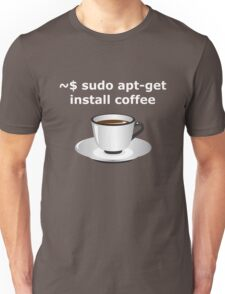sudo apt-get install coffee Linux Enthusiasts T-Shirt Unisex T-Shirt
