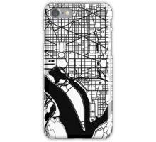 Washington DC Black and White Map Art iPhone Case/Skin
