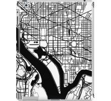 Washington DC Black and White Map Art iPad Case/Skin