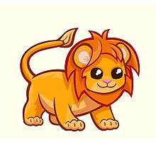 Cute baby lion cartoon Photographic Print
