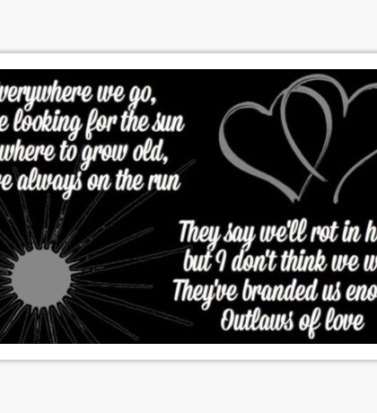 Outlaws of Love Sticker