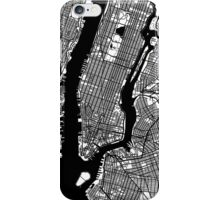 New York City Black and White Map - NYC iPhone Case/Skin