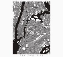 New York City Black and White Map - NYC T-Shirt