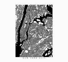 New York City Black and White Map - NYC Unisex T-Shirt
