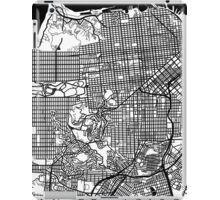 San Francisco Black and White Map Art - California, USA iPad Case/Skin