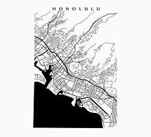 Honolulu Black and White Map Unisex T-Shirt