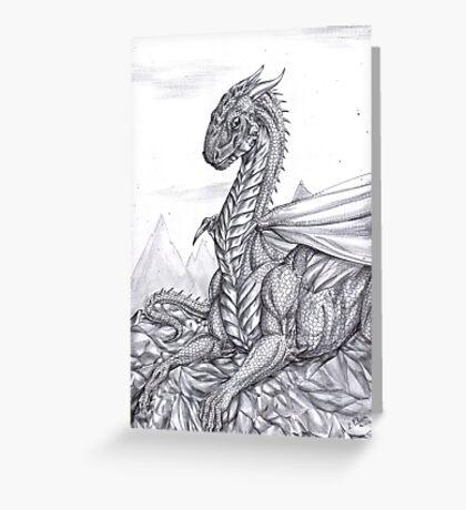 Saphira (BW) Greeting Card