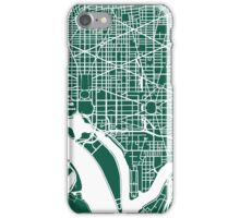 Washington DC Map Art  iPhone Case/Skin