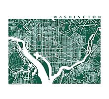 Washington DC Map Art  Photographic Print