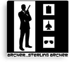 Archer, Sterling Archer Canvas Print