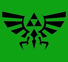 The Legend of Zelda - Hyrule Crest Symbol by Mellark90