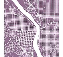 Portland, Oregon Map Art by CartoCreative
