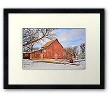 An Old Red Barn Framed Print