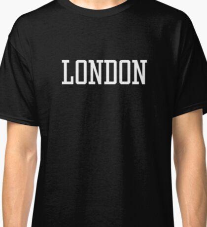London White Text on Black Classic T-Shirt