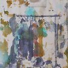 White hanger by Catrin Stahl-Szarka