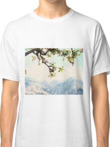 Apple Blossoms and Mountains  Classic T-Shirt