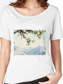 Apple Blossoms and Mountains  Women's Relaxed Fit T-Shirt