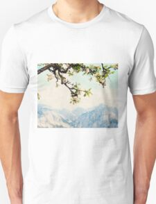 Apple Blossoms and Mountains  T-Shirt