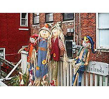 The Scarecrows Come to Town Photographic Print