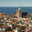 View of Stralsund from St. Mary's, Germany. by David A. L. Davies