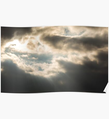 Epic Winter Sky Photo Poster