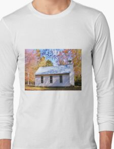 LITTLE COUNTRY CHAPEL & COLORFUL FALL FOLIAGE Long Sleeve T-Shirt