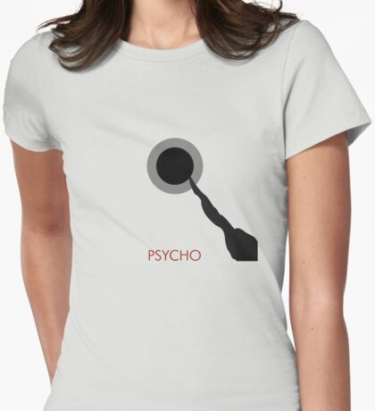 Psycho alternative movie poster Womens Fitted T-Shirt