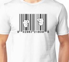 Captured By Consumerism UPC Barcode Prison Unisex T-Shirt