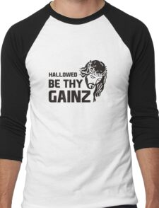 Hallowed Be Thy Gainz Men's Baseball ¾ T-Shirt