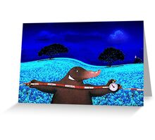 Moles Apart Greeting Card