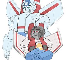 Transformers G1 - Starscream + Skyfire by wattleseeds