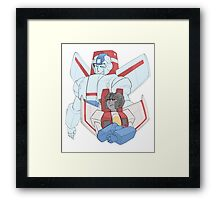 Transformers G1 - Starscream + Skyfire Framed Print