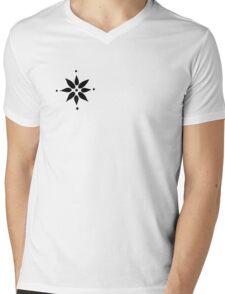 Lotus Doodle Mens V-Neck T-Shirt
