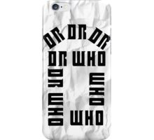 Dr Who Crumpled iPhone Case/Skin