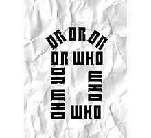 Dr Who Crumpled Photographic Print