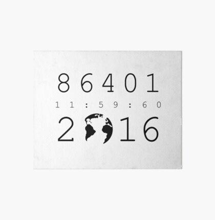 86401 Leap Second 2016 Art Board
