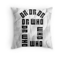 Dr Who Crumpled Throw Pillow