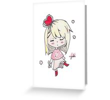 Love sick chibi girl Greeting Card
