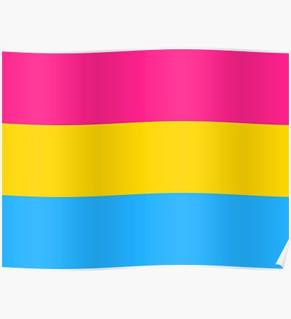 Tri Color Design - Pink Yellow Blue Poster