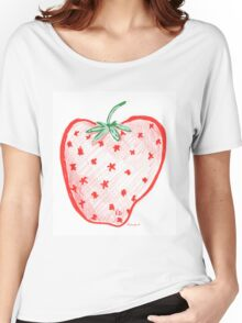 Riccoboni Design Strawberry Women's Relaxed Fit T-Shirt