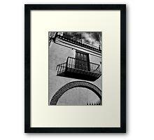 Balcony Shadow Framed Print