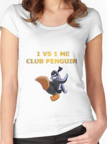 1v1 Me Club Penguin Women's Fitted Scoop T-Shirt