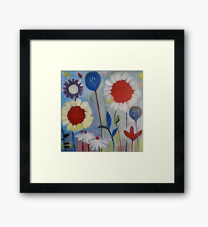 Playful Field of Flowers Nr. 3 Framed Print